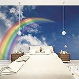 Benutzerdefinierte 3D Regenbogen Fototapete Wandaufkleber Tapeten Kunst Wohnkultur Tapeten Wandbilder 250x175 cm