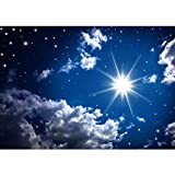 Vlies Fototapete PREMIUM PLUS Wand Foto Tapete Wand Bild Vliestapete - ROMANTIC STARS - Sternenhimmel Stars Sterne Leuchtsterne Nachthimmel - no. 023, Größe:200x140cm Vlies