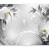 murando Fototapete 400x280 cm Vlies Tapeten Wandtapete XXL Moderne Wanddeko Design Wand Dekoration Wohnzimmer Schlafzimmer Büro Flur Blumen Orchidee b-A-0060-a-b