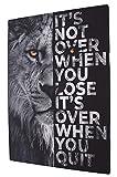 XXL Motivations Leinwand Löwen-motiv motivierendes Wandbild für Erfolg Wandbild mit Holrahmen (50 X 70 cm) Aufhangbereit Leinwandbild Spruch Löwe