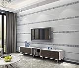 Tapete 3D Gestreiftes Grau Muster Wohnzimmer, Schlafzimmer, Sofahintergrund, Hotel