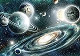 Forwall Fototapete Vlies Tapete Wanddeko Kosmos Weltall - Planet Galaxie Erde Sterne Moderne Wanddekoration 11896VEXL 208cm x 146cm Schlafzimmer Wohnzimmer