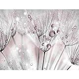 Fototapete Blumen Pusteblume 352 x 250 cm Vlies Tapeten Wandtapete XXL Moderne Wanddeko Wohnzimmer Schlafzimmer Büro Flur Rosa Grau 9436011a