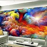 Fototapeten - Regenbogen Wolken Landschaft 300x210 cm - 6 Streifen Vliestapete für Wohnzimmer Schlafzimmer Büro Flur Dekoration Wandbilder Moderne Wanddeko