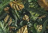 Fototapete Blätter grün Monstera Pflanzen Wohnzimmer Schlafzimmer Wandtapete Vlies Tapete Latexdruck UV-Beständig Geruchsfrei Hohe Auflösung Montagefertig (13803, V8 (368x254 cm) 4 Bahnen)