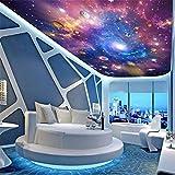 Mmneb Deckengemälde Space Universe Wallpapers 3D Stereo Cartoon Wandbilder Kinderzimmer Sternenhimmel Planet Tapeten Clubs Ktv Bar-120X100Cm