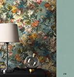 NEWROOM Blumentapete Tapete bunt Blumen Floral Vliestapete Vlies moderne Design Optik Blumentapete Modern inkl. Tapezier Ratgeber
