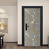 LBMT 3D Tür Aufkleber Kreative Dekoration Wandbild, Schlafzimmer Wohnzimmer Hintergrund Tapete Tapete-90X200.