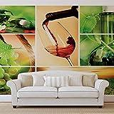 Essen Trinken - Forwall - Fototapete - Tapete - Fotomural - Mural Wandbild - (104WM) - L - 152.5cm x 104cm - VLIES (EasyInstall) - 1 Piece