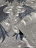 Tapete Silber Lila Blau Flügel Glööckler Imperial von marburg für Schlafzimmer Wohnzimmer oder Küche Made in Germany 10,05m x 0,70m 52579 Bekannt aus dem TV!