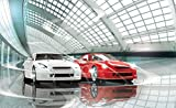 FORWALL Fototapete Tapete Luxuriöse Autos Ausstellung P4 (254cm. x 184cm.) AMF1926P4 Wandtapete Design Tapete