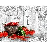 Runa Art Fototapete Küche Gewürze Modern Vlies Wohnzimmer Schlafzimmer Flur - made in Germany - Braun Bunt 9431010c