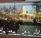 Weihnachtsfenster Aufkleber, Youson Girl® Weihnachtshaus Wand Aufkleber DIY Schneeflocke Glocken Fenster Abziehbild Ausgangsdekoration Entfernbare Tapete (B)