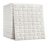 3D Wandpaneele 10er Pack Selbstklebende Ziegel Tapete Wandaufkleber für Wohnzimmer Schlafzimmer Küche 70 x 77 cm