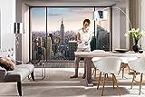 Komar Fototapete | PENTHOUSE | 368 x 254 cm | Tapete, Wandgestaltung, Wandtapete, Skyline, Stadt, Schlafzimmer, Wohnzimmer, New York, Manhatten | 8-916