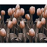 murando Fototapete Blumen 400x309 cm Vlies Tapeten Wandtapete XXL Moderne Wanddeko Design Wand Dekoration Wohnzimmer Schlafzimmer Büro Flur Tulpen Natur Garten 10040906-26