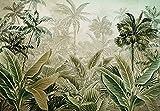 Fototapete Wandtapete Vlies Tapete Wald Amazonia Dschungel Tropische Wohnzimmer Schlafzimmer Latexdruck UV-Beständig Geruchsfrei Hohe Auflösung Montagefertig (13921, V8 (368x254 cm) 4 Bahnen)