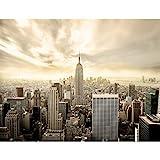 Fototapete New York skyline 352 x 250 cm Vlies Tapeten Wandtapete XXL Moderne Wanddeko Wohnzimmer Schlafzimmer Büro Flur Beige 9005011b