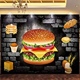 Fototapeten 3D Effekt Wandbild Essen Stereo Hamburger 400X280Cm Wandbild Tapete Moderne Wohnzimmer Mural Schlafzimmer Kinderzimmer Tv Hintergrund Wand Dekoration