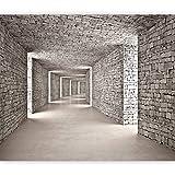 murando Fototapete 3D Tunnel 400x280 cm Vlies Tapeten Wandtapete XXL Moderne Wanddeko Design Wand Dekoration Wohnzimmer Schlafzimmer Büro Flur Mauer Ziegel Textur d-B-0332-a-a