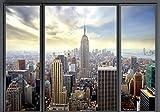 decomonkey Fototapete New York Stadt City 350x256 cm XXL Design Tapete Fototapeten Vlies Tapeten Vliestapete Wandtapete moderne Wand Schlafzimmer Wohnzimmer Fensterblick