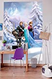 Komar Fototapete | Disney | FROZEN WINTER LAND | 184 x 254 cm | Tapete, Wand, Dekoration, Wandbelag, Wandbild, Wanddeko, Kiderzimmer, Anna, Elsa | 4-498