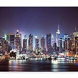 murando Fototapete New York 400x280 cm Vlies Tapeten Wandtapete XXL Moderne Wanddeko Design Wand Dekoration Wohnzimmer Schlafzimmer Büro Flur Stadt City New York d-B-0034-a-b