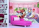 AG Design FTDXXL 2229 Minnie Mouse Disney, Papier Fototapete Kinderzimmer- 360x255 cm - 4 teile, Papier, multicolor, 0,1 x 360 x 255 cm