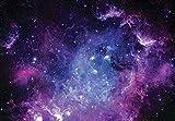 Fototapete Kinderzimmer Galaxy Weltraum Sterne Universum Vlies Tapete Latexdruck UV-Beständig Geruchsfrei Hohe Auflösung Montagefertig (13861, V8 (368x254 cm) 4 Bahnen)