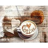 Fototapeten Küche Kaffe 352 x 250 cm - Vlies Wand Tapete Wohnzimmer Schlafzimmer Büro Flur Dekoration Wandbilder XXL Moderne Wanddeko - 100% MADE IN GERMANY - 9367011a