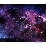 murando Fototapete Galaxy 350x256 cm Vlies Tapeten Wandtapete XXL Moderne Wanddeko Design Wand Dekoration Wohnzimmer Schlafzimmer Büro Flur Kosmos Himmel Stern Wolke violett a-C-0022-a-a