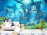 Wh-Porp Unterwasserwelt Ozean Delphin Hintergrund Wall 3D Tapete Kinderzimmer Dekoriert Tapete Für Wände 3D Tapete-250Cmx175Cm