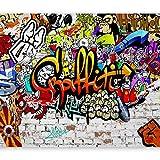 murando Fototapete 350x256 cm Vlies Tapeten Wandtapete XXL Moderne Wanddeko Design Wand Dekoration Wohnzimmer Schlafzimmer Büro Flur Graffiti Streetart f-A-0348-a-b