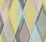 A.S. Création Vliestapete Pop Colors Tapete im Retro Design Retrotapete 70er Jahre Style 10,05 m x 0,53 m blau gelb rosa Made in Germany 355913 35591-3