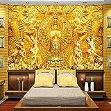 LucaSng Tapeten Wandtapete 3D Fotoposter Wanddeko - Religion Buddha Drache Zen - Fototapete 3D Effekt Wandbild Tapete Deko Wohnzimmer Tapeten Deko Schlafzimmer Wandbilder Wanddeko