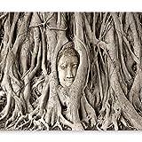 murando Fototapete 400x280 cm Vlies Tapeten Wandtapete XXL Moderne Wanddeko Design Wand Dekoration Wohnzimmer Schlafzimmer Büro Flur Buddha Bäume h-B-0061-a-a