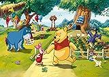 AG Design FTDs1938 Disney Winnie Puuh, Papier Fototapete Kinderzimmer - 255x180 cm - 2 teile, Papier, multicolor, 0,1 x 255 x 180 cm