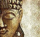 ZHEN WALLPAPER Fototapete Buddha Vintage Gold einschließlich Paste Wandbild Kunst Holzoptik Asien Spirituell Meditation Schlafzimmer 250cmx175cm (98.4x68.9inch)