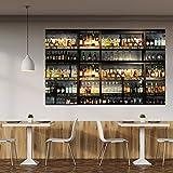 Fototapete Küche 183 x 127 cm inklusive Kleister Bar Cocktail Whiskey Drinks Cognac Regal Getränke Tapete