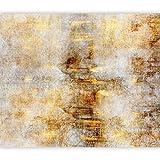 murando Fototapete Textur 400x280 cm Vlies Tapeten Wandtapete XXL Moderne Wanddeko Design Wand Dekoration Wohnzimmer Schlafzimmer Büro Flur Ornament Orient Struktur gold grau f-A-0865-a-a