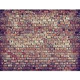 Fototapete Ziegelmauer 3D Braun 396 x 280 cm Vlies Wand Tapete Wohnzimmer Schlafzimmer Büro Flur Dekoration Wandbilder XXL Moderne Wanddeko 100% MADE IN GERMANY Runa Tapeten 9020012c