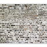 murando - Fototapete Ziegel Optik 400x280 cm - Vlies Tapete - Moderne Wanddeko - Design Tapete - Wandtapete - Wand Dekoration - Steintapete Steine Brick Mauer Beton 3D f-A-0411-a-b