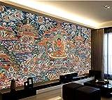 HKRSTSXJ. WELLYU Customized Große Tapete 3D Neue chinesische Art Thangka Buddha Kunst Hintergrund Wohnzimmer Schlafzimmer Hintergrund Tapete (Dimensions : 1 m2)
