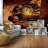 Sonnenaufgang Afrika Höhle Vlies Fototapete Fotomural - Wandbild - Tapete - 312cm x 219cm / 3 Teilig - Gedrückt auf 130gsm Vlies - 10260VEXXL - Reisen & Welt