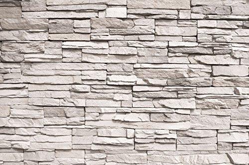 wei e steinwand fototapete steinmauer steinoptik sandstein asian stonewall wei xxl wandbild. Black Bedroom Furniture Sets. Home Design Ideas